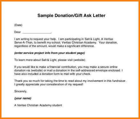 letter  donation  invoice letter