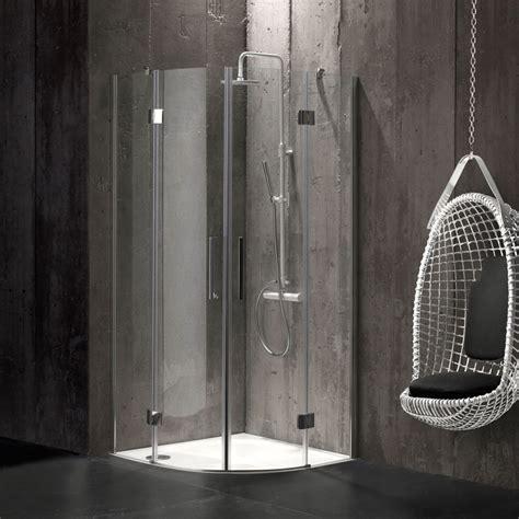 cabina doccia 90x90 box doccia semicircolare 90x90 cristallo senza telaio kv