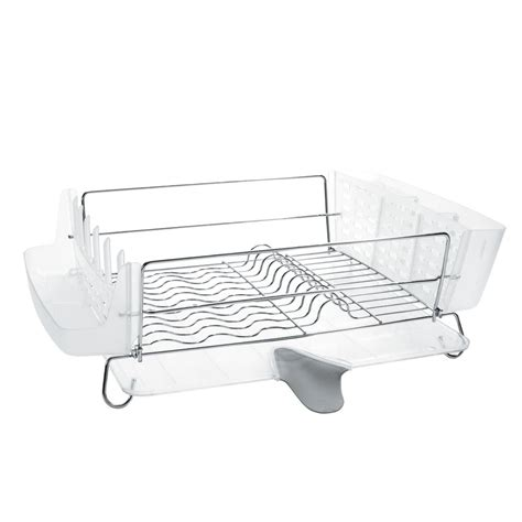 oxo grips folding stainless steel dish rack oxo grips folding stainless steel dish rack 1069916