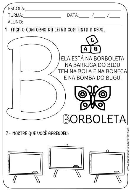 atividade pronta alfabeto letra b