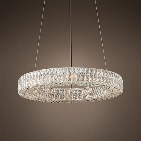 Large Circular Chandelier by Modern Vintage Luxury K9 Chandelier Lighting