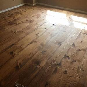 pine plank floors stained with minwax early american With early american floor stain