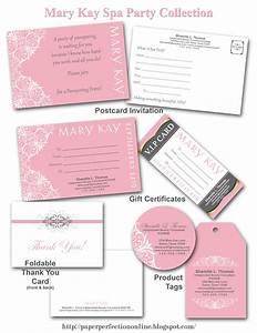 paper perfection mary kay spa party printables pajamas With mary kay invite templates