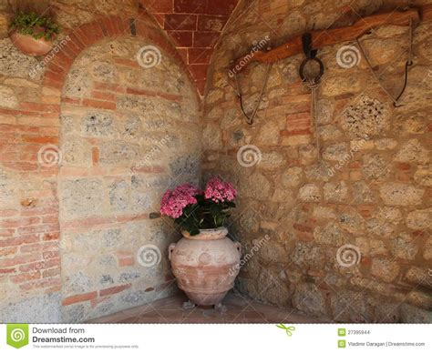tuscan terracotta flower pot stock images image