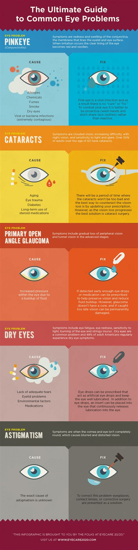 The Ultimate Guide To Common Eye Problems Infographic