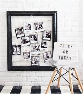 Cadre Deco Noir Et Blanc : activit manuelle halloween 90 id es cr atives de bricolage facile r aliser soi m me obsigen ~ Melissatoandfro.com Idées de Décoration