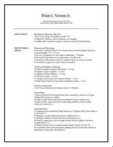 resume for pastor template worship pastor cover letter sle