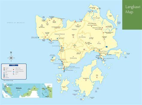langkawi hotels  sightseeings map