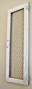 shabby chicken wire cabinet door wall hanging wall decor 13 x With kitchen cabinets lowes with wreath candle holder