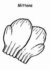 Mittens Coloring Pages Preschooler Gloves Colorluna sketch template