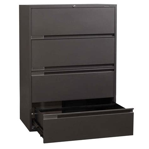 Global Used 4 Drawer 42 Inch Lateral File, Charcoal. Hanging Desk. Table Bases Wood. Sewing Tables Ikea. Tjx Help Desk