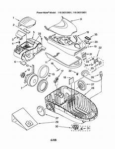 Kenmore Model 11626312601 Vacuum  Canister Genuine Parts