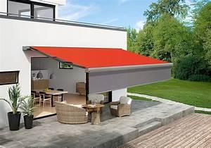mehr komfort auf der terrasse durch markise mit vertikaler With markise balkon mit tapete rot grün