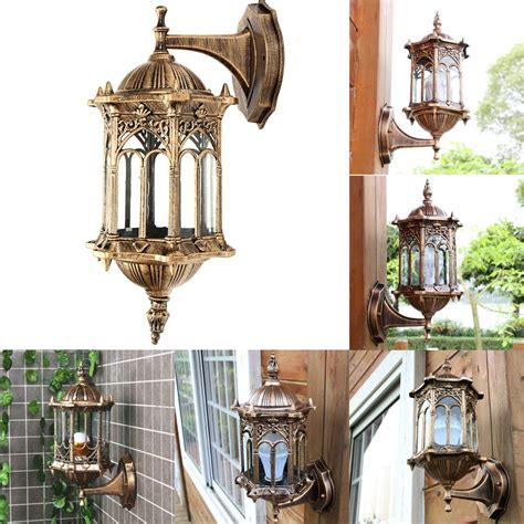 outdoor bronze antique exterior wall light fixture