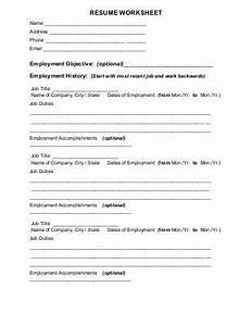 resume professional profile qualifications summary worksheet With free resume worksheet