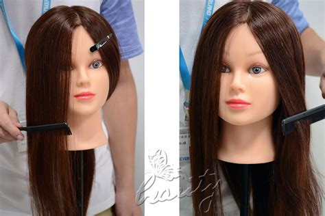 16 Styles Real Human Hair Hairdressing Training Head