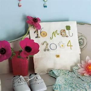une pochette ornee de la date de naissance de bebe marie With déco chambre bébé pas cher avec faire envoyer des fleurs par internet