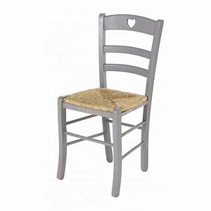 Chaise paille for Deco cuisine avec chaise blanche et bois pas cher