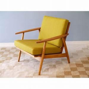Fauteuil Design Scandinave : fauteuil design vintage danois jaune la maison retro ~ Melissatoandfro.com Idées de Décoration