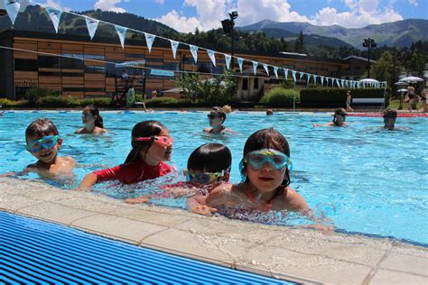 Outdoor Olympic Swimming Pool In Megève