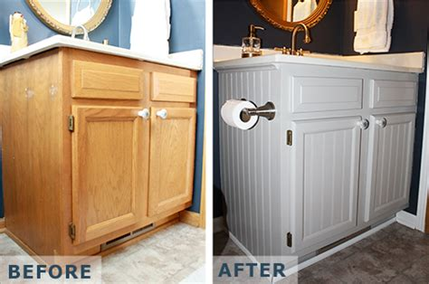 Win Bathroom Makeover 2014 by Feature Friday With Beth Cabinet Makeover For 20