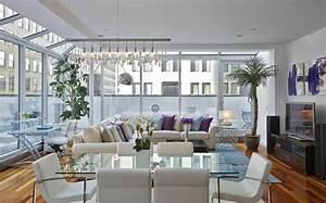salon avec salle a manger 60 idees d39amenagment With salle de bain design avec école de décoration d intérieur toulouse