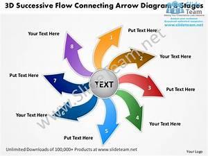 3d Successive Flow Connecting Arrow Diagram 8 Stages