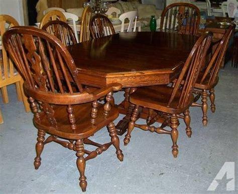ethan allen royal charter oak pedestal dining set 2