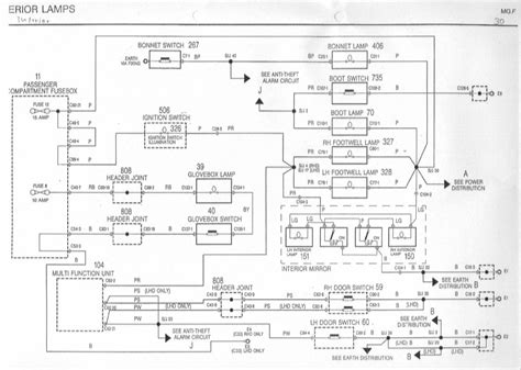 Rover 75 Diesel Wiring Diagram by Interiour Door Lights The Mgf Register Forums