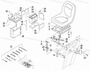 Arctic Cat Side By Side 2006 Oem Parts Diagram For Seat