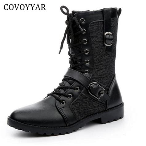 Covoyyar Knight Men Boots British Ankle Martin