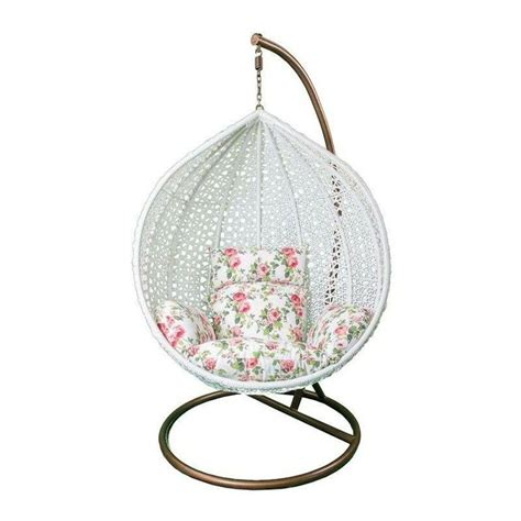 white wicker styled hanging chair white wicker hanging