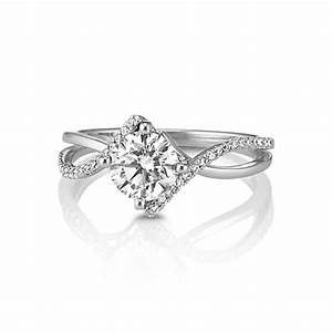 swirl diamond engagement ring shane co With swirl engagement ring with wedding band