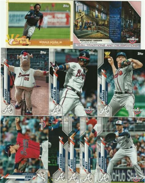 2020 Topps Opening Day MASTER TEAM SET - ATLANTA BRAVES ...