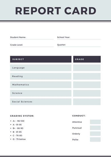 customize  homeschool report card templates  canva