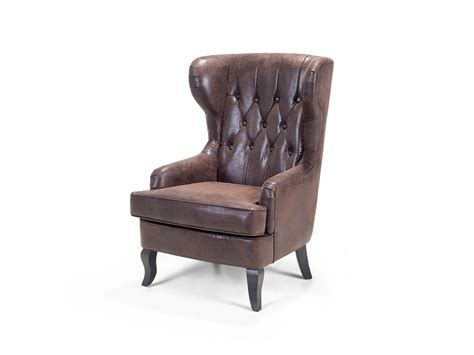 Wingback Chair, Armchair, Retro, Tufted, Polyester