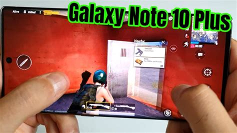 gaming test samsung galaxy note   pubg mobile