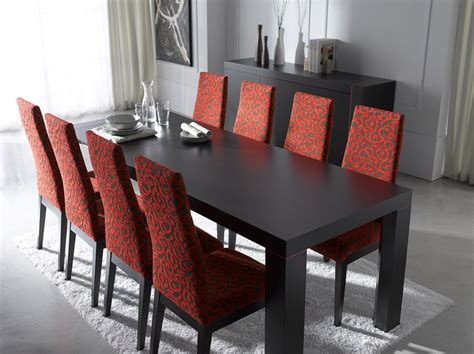 modern dining room set with red table set plushemisphere