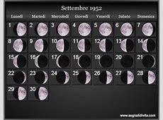 Calendario Lunare 1952 Fasi lunari