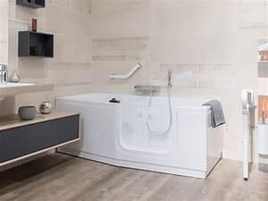 Baignoire Avec Porte Pour Senior : accessibilit 3 mani res d 39 am nager sa salle de bains ~ Premium-room.com Idées de Décoration