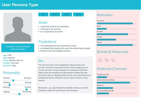 create  user persona  guide xtensio