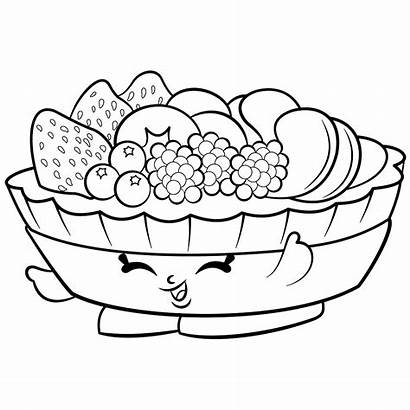 Salad Coloring Fruit Pages Printable Getcolorings Shopkin