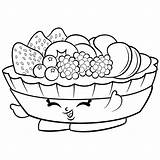 Salad Fruit Drawing Coloring Pages Shopkins Getdrawings sketch template