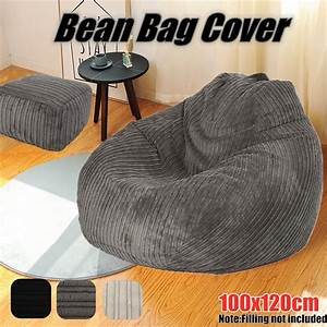 Large, Bean, Bag, Chairs, Couch, Corduroy, Sofa, Cover, Indoor, Lazy, Seat, Adult, Beanbag, No, Filling