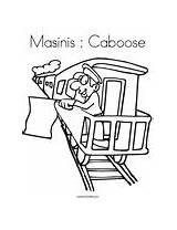 Coloring Caboose sketch template