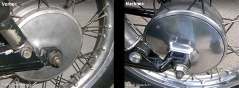 motorrad chrom polieren mz motorrad aluminiumteile polieren