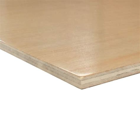 home depot flooring plywood prefinished 1 side birch plywood common 1 4 in x 4 ft x 8 ft actual 0 196 in x 48 in x