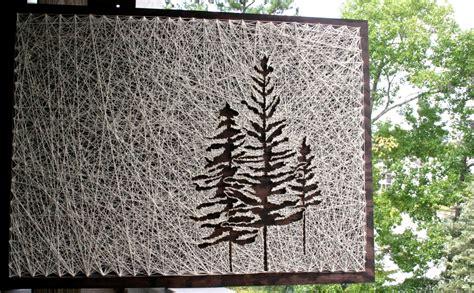 string wall tree pine tree wall 26x18 pine tree string etsy