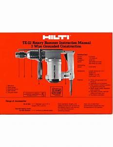 Hilti Te 72 Parts Manual