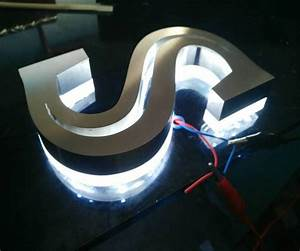 3d outdoor advertising illuminated letters light box light With bar light up letters